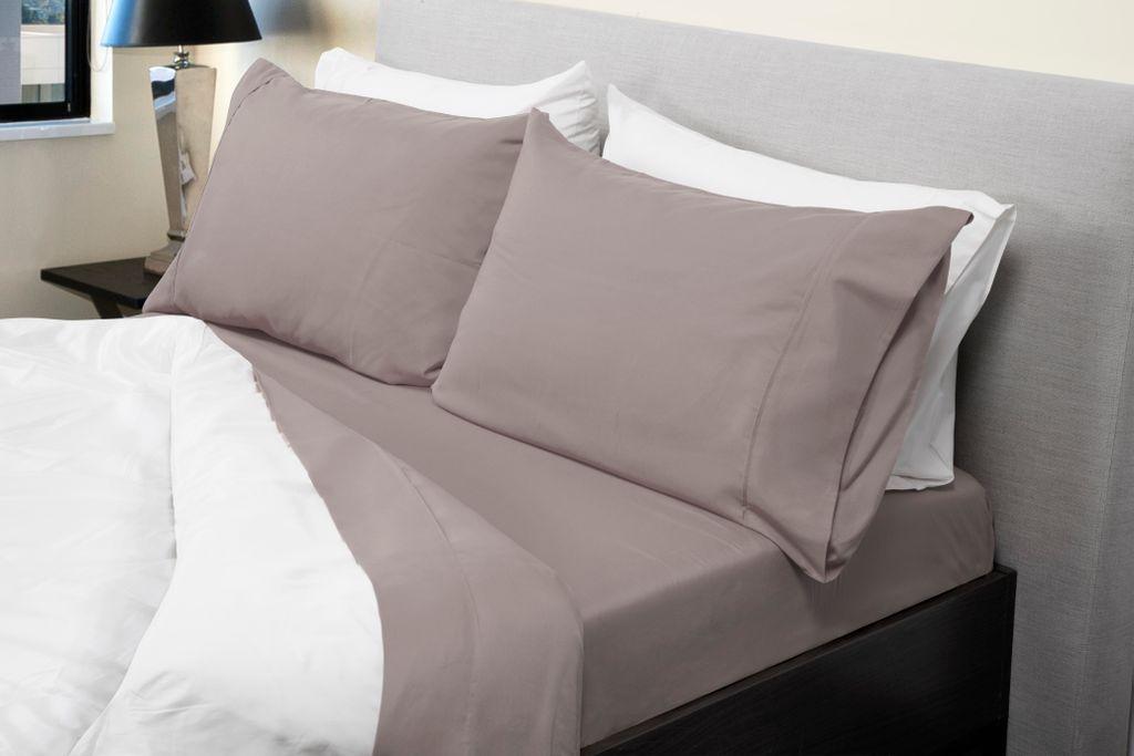 Royal Comfort 1000TC Bamboo Blend sheet sets Queen Warm Grey