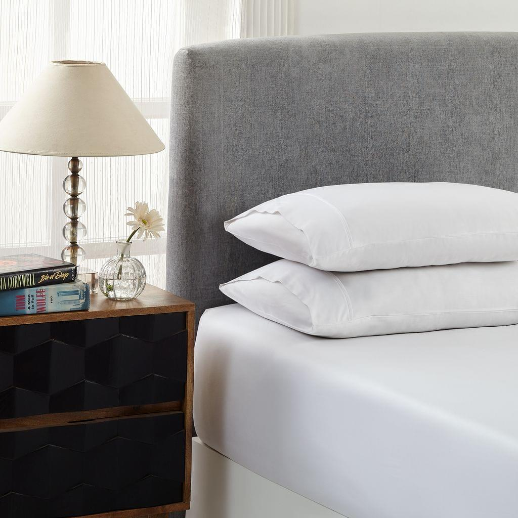 Royal Comfort 1500 Thread count Cotton Blend 3 Piece Fitted sheet Set King White