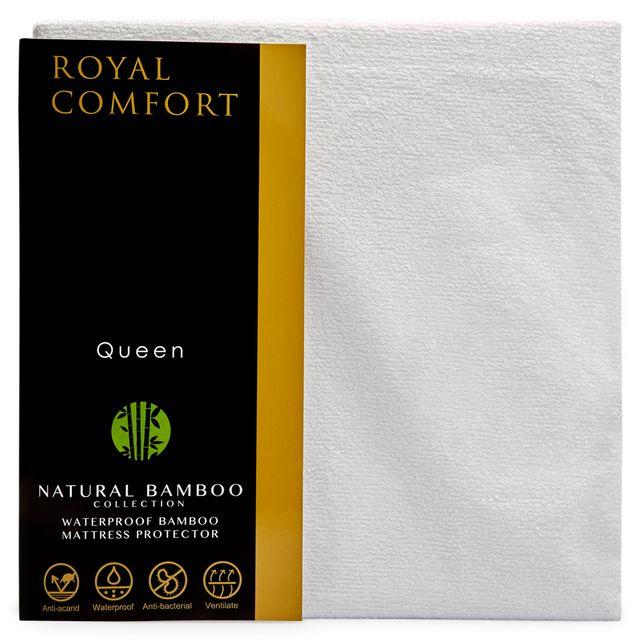 Royal Comfort Bamboo Waterproof Mattress protector - Queen