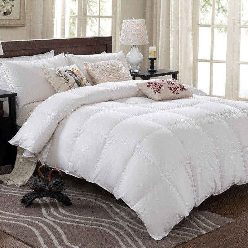 Royal Comfort Duck Down Quilt - Queen 233TC Cover 50% Duck Down 50% Duck Feather