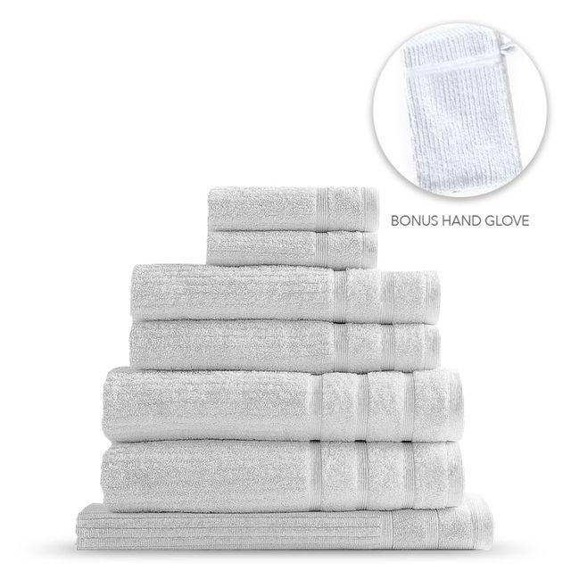 Royal Comfort Eden Egyptian Cotton 600 GSM 8 Piece Towel Pack