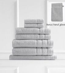 Royal Comfort Eden 600GSM 100% Egyptian Cotton 8 Piece Towel Pack - Sea Holly