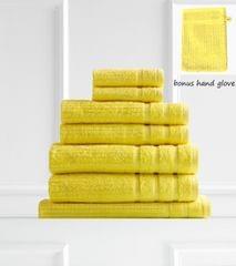 Royal Comfort Eden 600GSM 100% Egyptian Cotton 8 Piece Towel Pack - Yellow