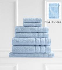 Royal Comfort Eden 600GSM 100% Egyptian Cotton 8 Piece Towel Pack - Aqua