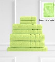 Royal Comfort Eden 600GSM 100% Egyptian Cotton 8 Piece Towel Pack - Spearmint