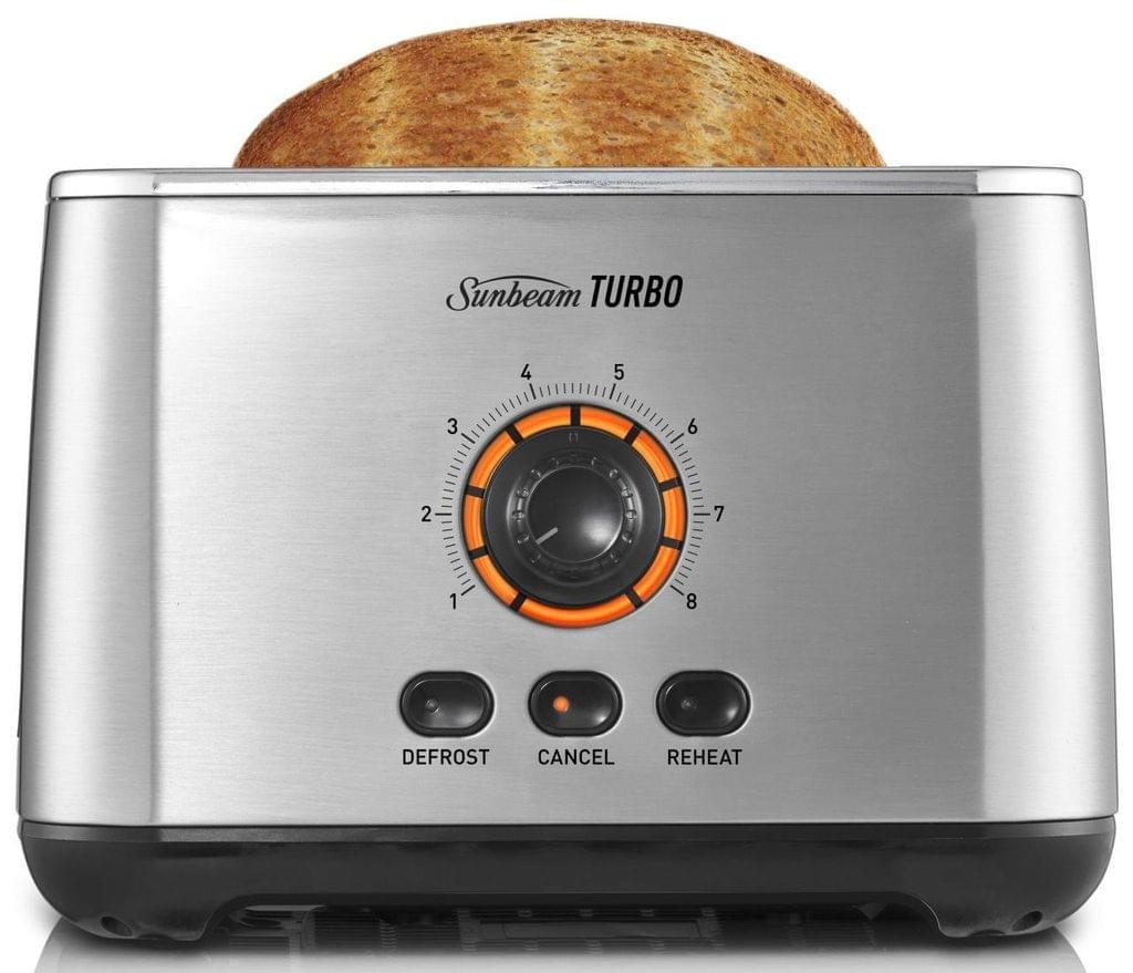 SUNBEAM Turbo 2 Slice Toaster - Stainless Steel