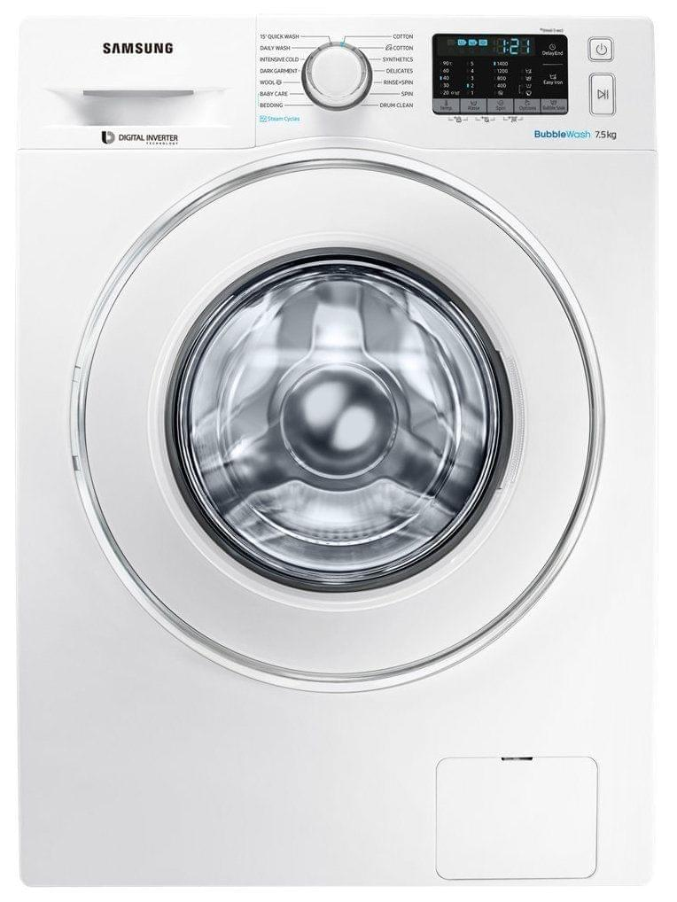 SAMSUNG 7.5Kg Front Load Washer with Steam