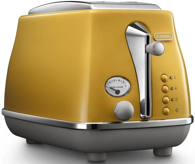 DELONGHI Icona Capitals 2 Slice Toaster - Yellow