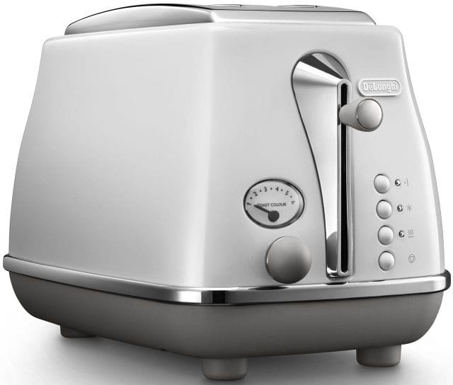 DELONGHI Icona Capitals 2 Slice Toaster - White