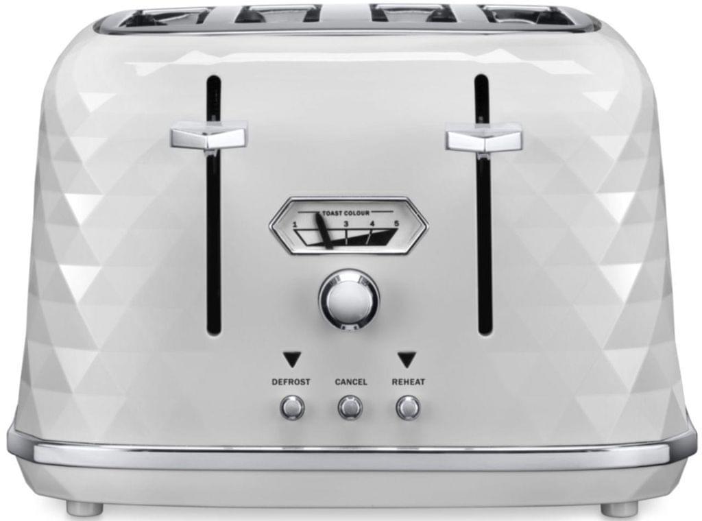 DELONGHI Brillante 4 Slice Toaster - White