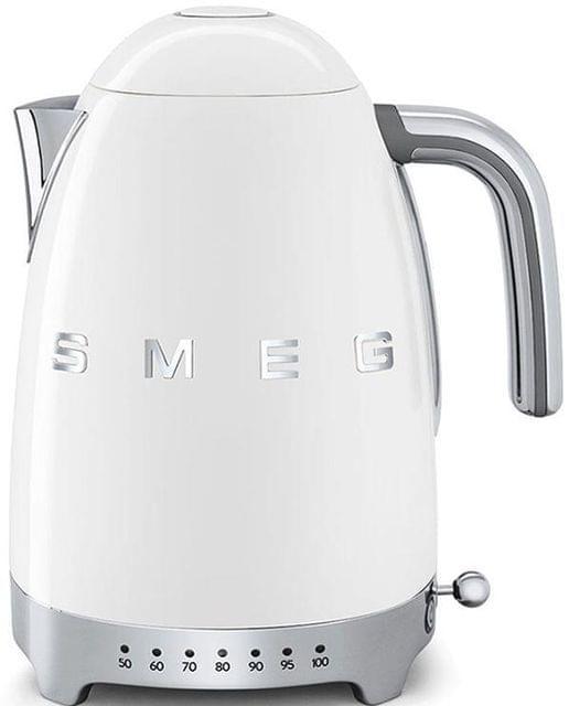 SMEG 1.7L 50's Style Variable Temperature Kettle - White