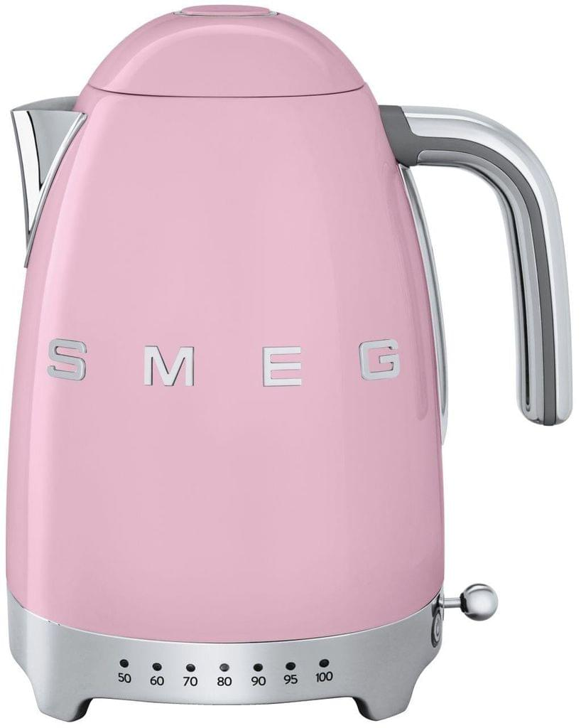 SMEG 1.7L 50's Style Variable Temperature Kettle - Pink