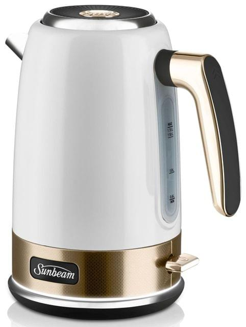 SUNBEAM New York Collection 1.7L Jug Kettle - White/Pale Gold