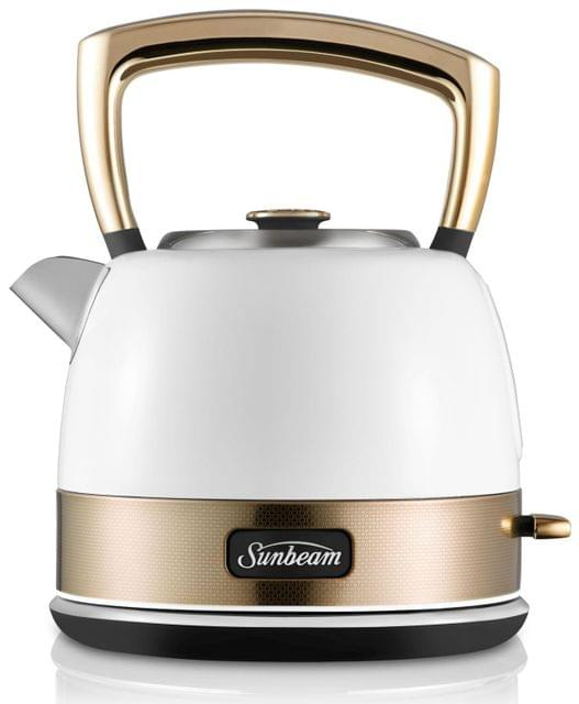 SUNBEAM New York Collection 1.5L Pot Kettle - White/Pale Gold