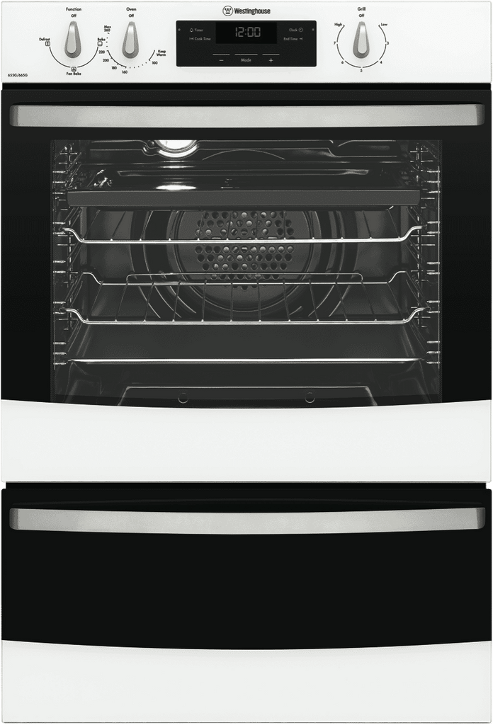 WESTINGHOUSE 60cm 3 Function Gas Walloven Separate Grill