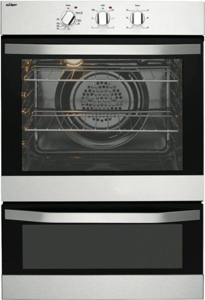CHEF 60cm Built-In Electric Oven w/ Separate Grill