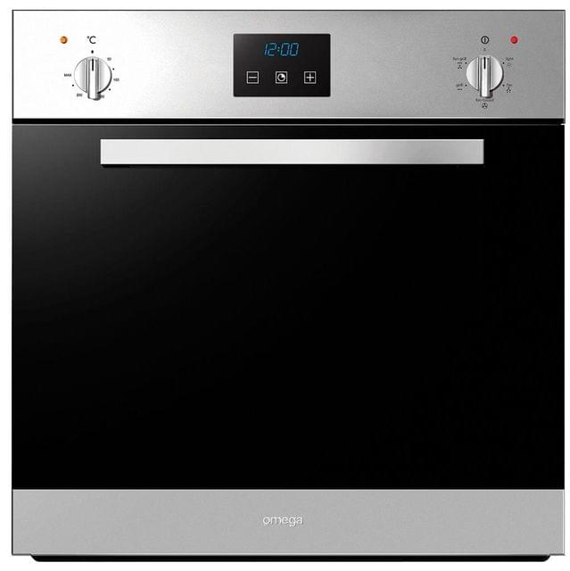 OMEGA 60cm Bassano Fan Forced Oven With Clock