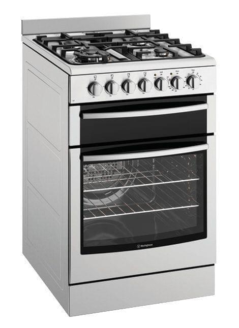 WESTINGHOUSE 54cm Dual Fuel Upright Cooker Front Control