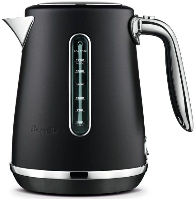 BREVILLE The Soft Top Luxe Kettle - Black Truffle