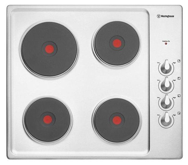 WESTINGHOUSE 60cm 4 Solid Element Cooktop Knob Control S/S