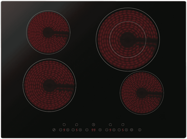 OMEGA 70cm 4 Zone Ceramic Cooktop Touch Control