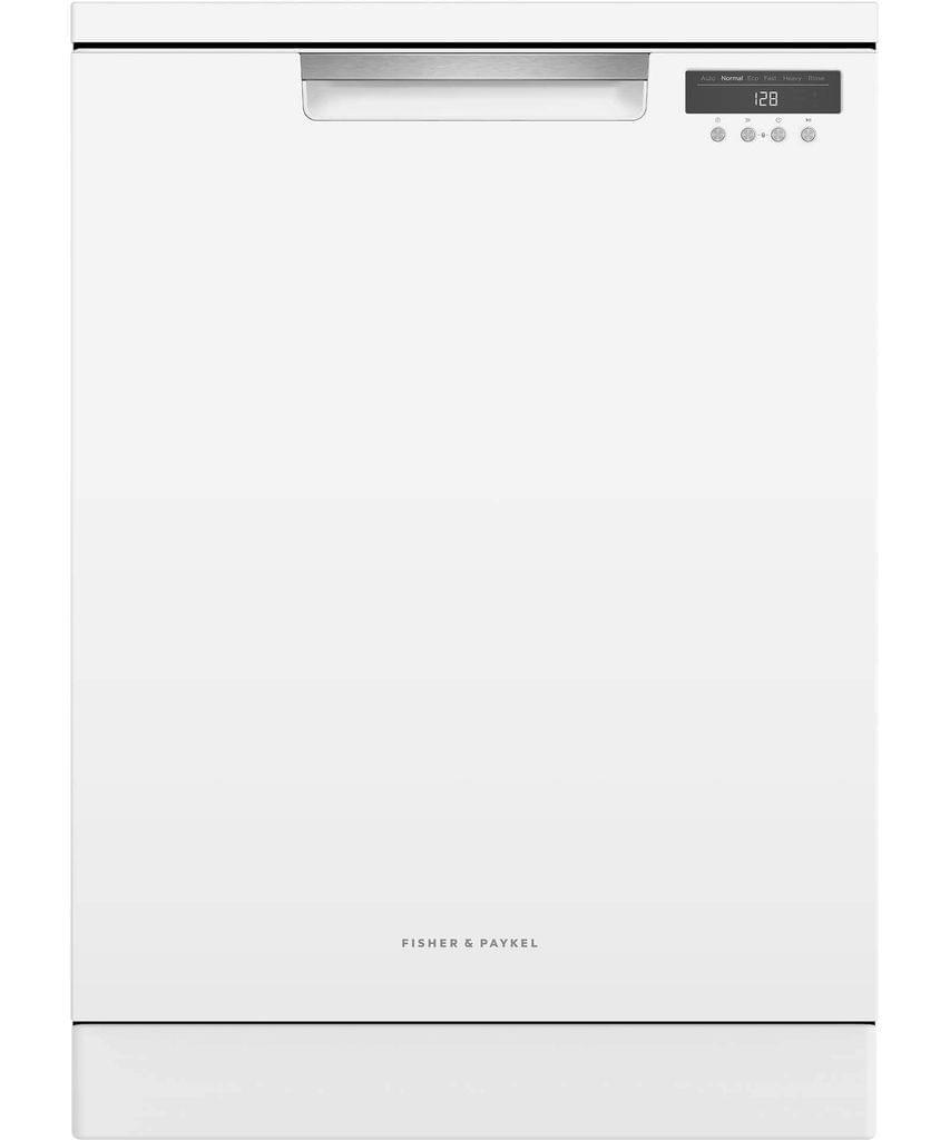 F&P 60cm Freestanding Dishwasher 5 Star WELS White
