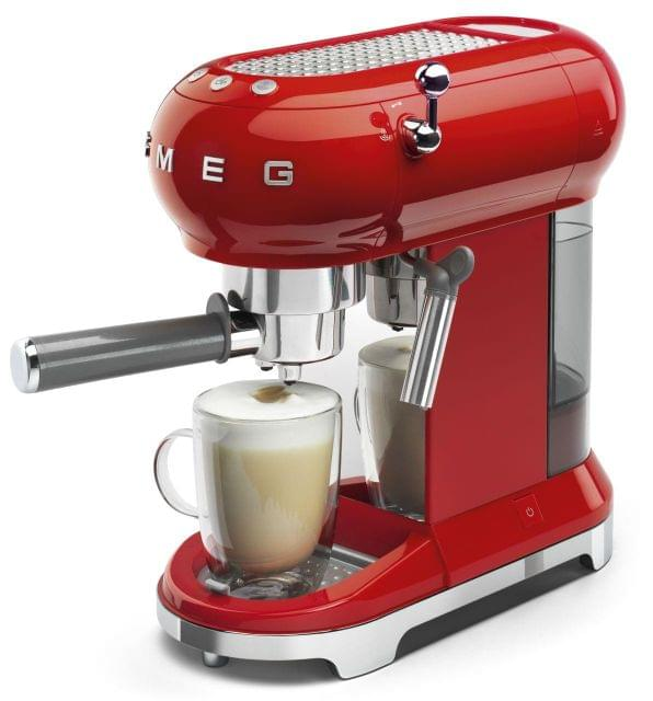 SMEG 50's Style Coffee Machine - Red
