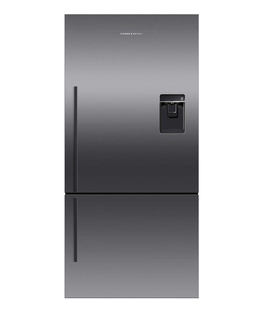 F&P 519L Bottom Mount Fridge Ice & Water Black