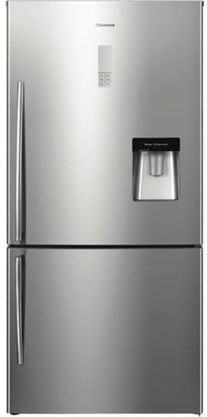 HISENSE 514L Bottom Mount Fridge Water Dispenser S/S