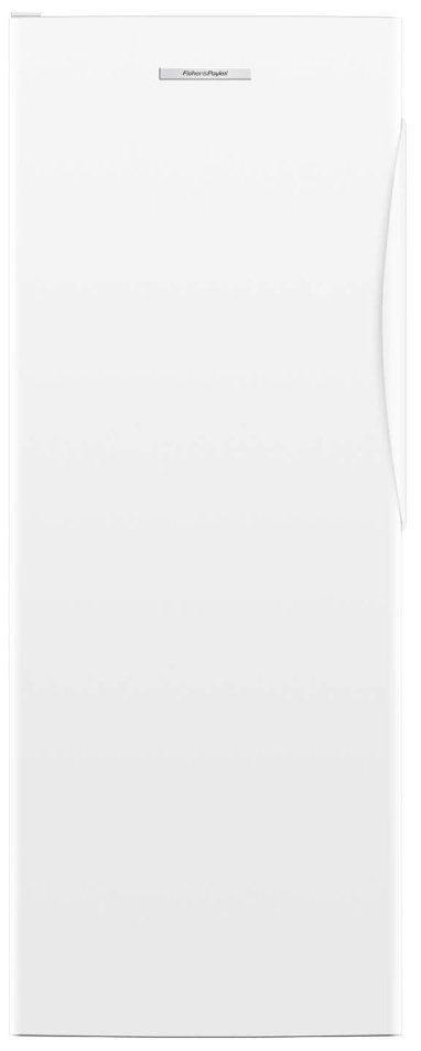 F&P 389L Single Curved Door Freezer White LH Hinge