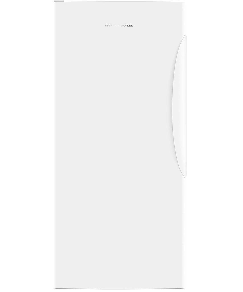 F&P 304L Curved Single Door Vertical Freezer LHH - White