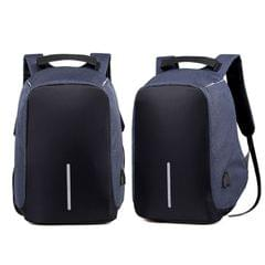 NEW Anti Theft Backpack Waterproof bag School Travel Laptop Bags USB Charging - Blue