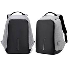 NEW Anti Theft Backpack Waterproof bag School Travel Laptop Bags USB Charging - Grey