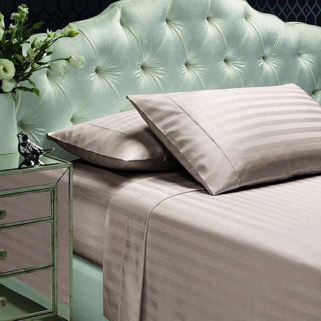 Style & Co Egyptian Cotton 1000TC Sheet Set with 2cm Stripes QUEEN - Linen