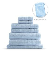 Royal Comfort Eden Egyptian Cotton 600GSM 8 Piece Luxury Bath Towels Set - Aqua