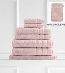Royal Comfort Eden Egyptian Cotton 600GSM 8 Piece Luxury Bath Towels Set - Blush