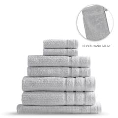 Royal Comfort Eden Egyptian Cotton 600GSM 8 Piece Luxury Bath Towels Set - Holly