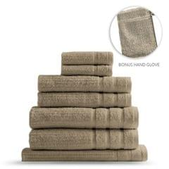Royal Comfort Eden Egyptian Cotton 600GSM 8 Piece Luxury Bath Towels Set - Rose