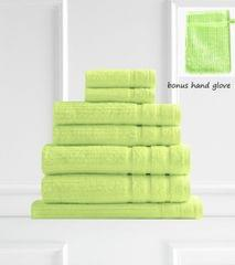 Royal Comfort Eden Egyptian Cotton 600GSM 8 Piece Luxury Bath Towels Set - Spearmint