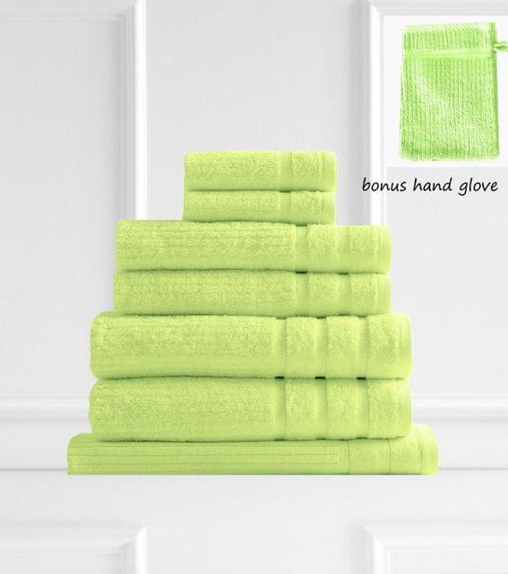 Royal Comfort Eden Egyptian Cotton 600GSM 8 Piece Luxury Bath Towels Set - Spearmint