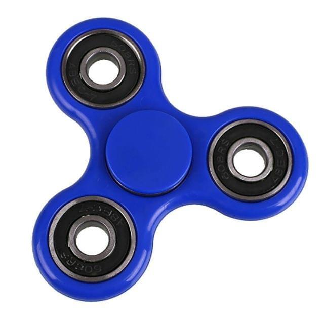 Fidget Spinner Premium Quality Trispinner Bearings ADD ADHD Stress Reducer - Blue