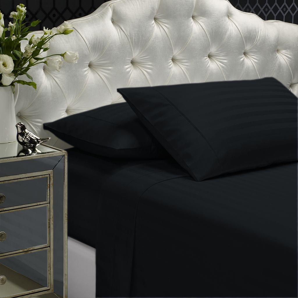 Royal Comfort 1200 TC Damask Stripe Cotton Blend sheet sets King Charcoal Grey