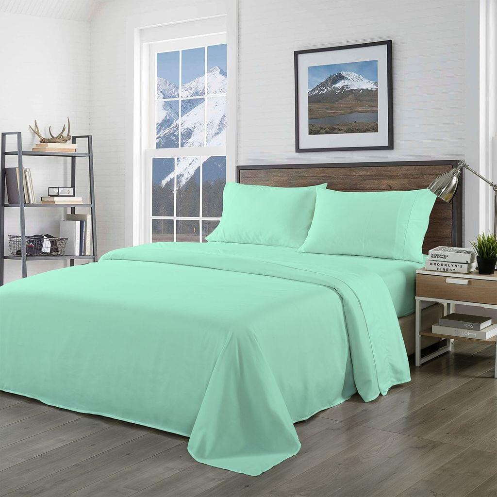 Royal Comfort Bamboo Blended Sheet & Pillowcases Set 1000TC Ultra Soft Bedding - Queen - Warm Grey