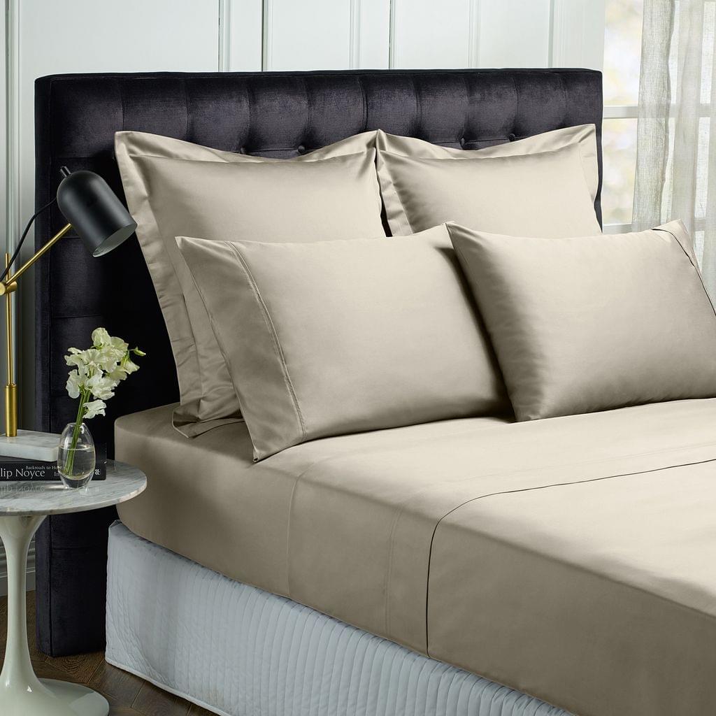 Royal Comfort Queen 1500TC Markle Collection Cotton Blend Sheet Set - Stone