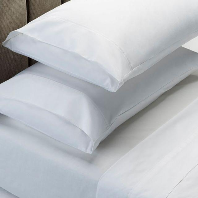 RC Bed Sheets Set 1000TC Soft Touch Cotton Blend Flat Fitted Double/Queen/King - King - White