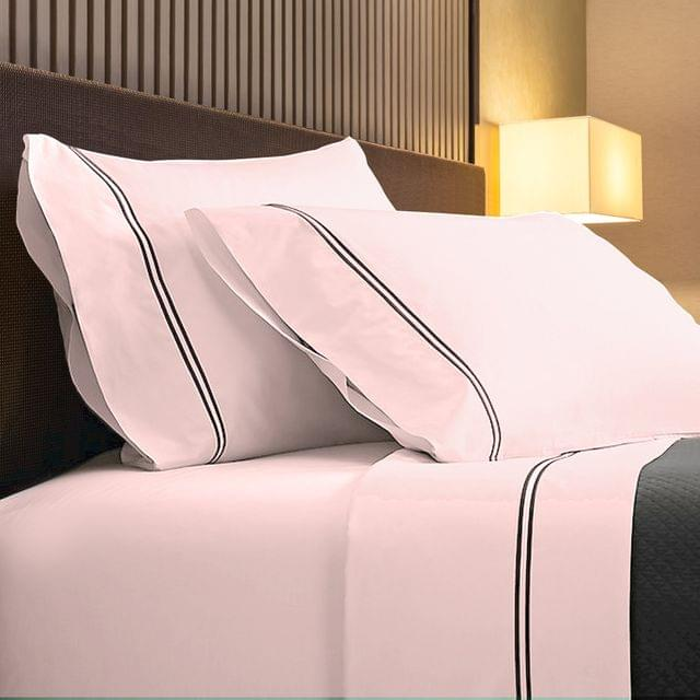 Renee Taylor 1000TC Sheet Set Cotton Rich Soft Touch Hotel Quality Bedding - King - Blush