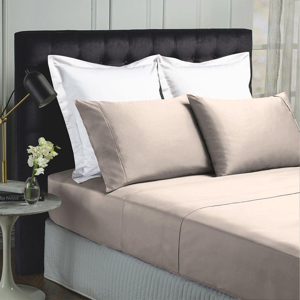 Royal Comfort 1000TC Hotel Grade Bamboo Cotton Sheets Pillowcases Set Ultrasoft - King - Dove
