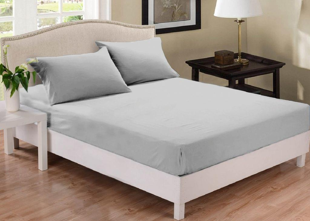 Park Ave 1000TC Cotton Blend Fitted Sheet Set King - Silver