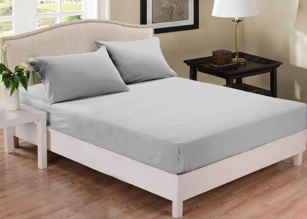 Park Avenue 1000 Thread Count Cotton Blend Combo Set Mega Queen Bed - Silver