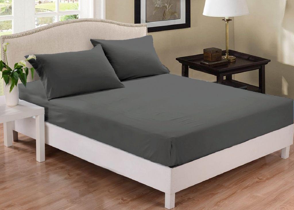 Park Avenue 1000 Thread Count Cotton Blend Combo Set Queen Bed - Charcoal
